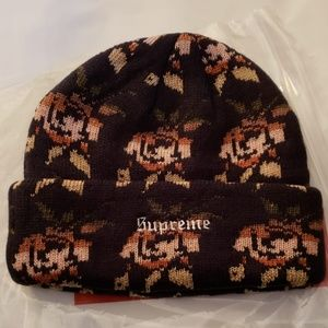 b1a819119354f Supreme Accessories - Rose Jacquard Beanie